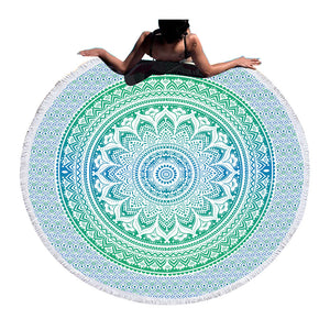 BeddingOutlet Mandala Round Beach Towel Bohemian Endless Tassel Tapestry Yoga Mat Floral Toalla Blanket - www.maboutiquefashion.com
