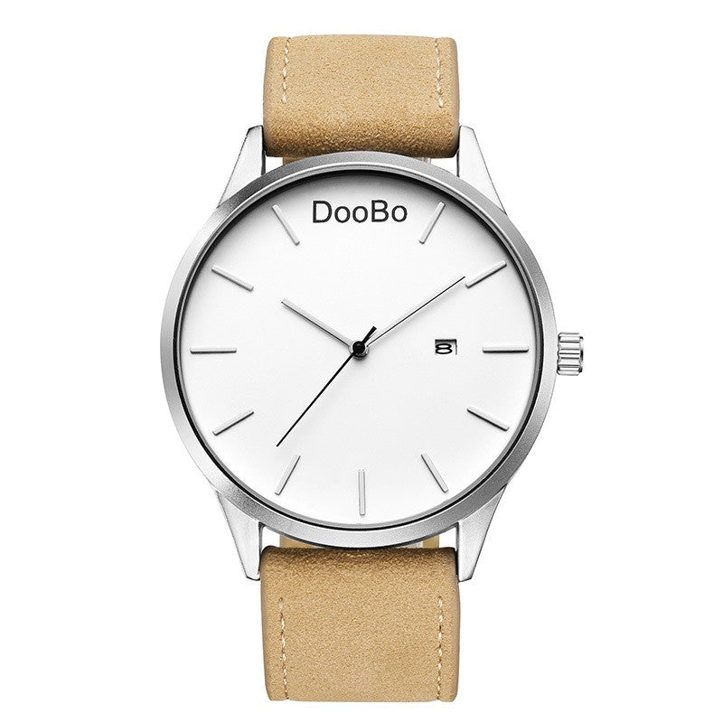DOOBO Top Brand Luxury Mens Watch Leather Business Men'S Watches - www.maboutiquefashion.com