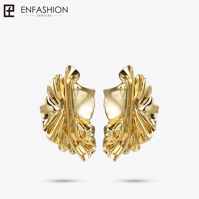 Enfashion Gold Leaves Earrings for Women Gold Color Leaf Drop Earrings Oorbellen Voor Vrouwen Earings Fashion Jewelry EC181044 - www.maboutiquefashion.com