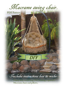 Knotted Swing Chair Outdoor Furniture Hanging Chair Pdf Pattern