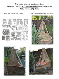 Knotted Swing Chair, Outdoor Furniture, Hanging Chair, PDF Pattern, DIY  Macrame Chair