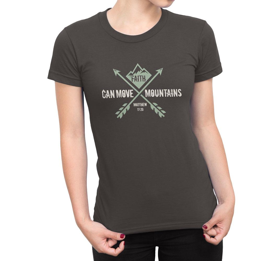 Faith Can Move Mountains - Women's Faith T Shirt-WearBU.com