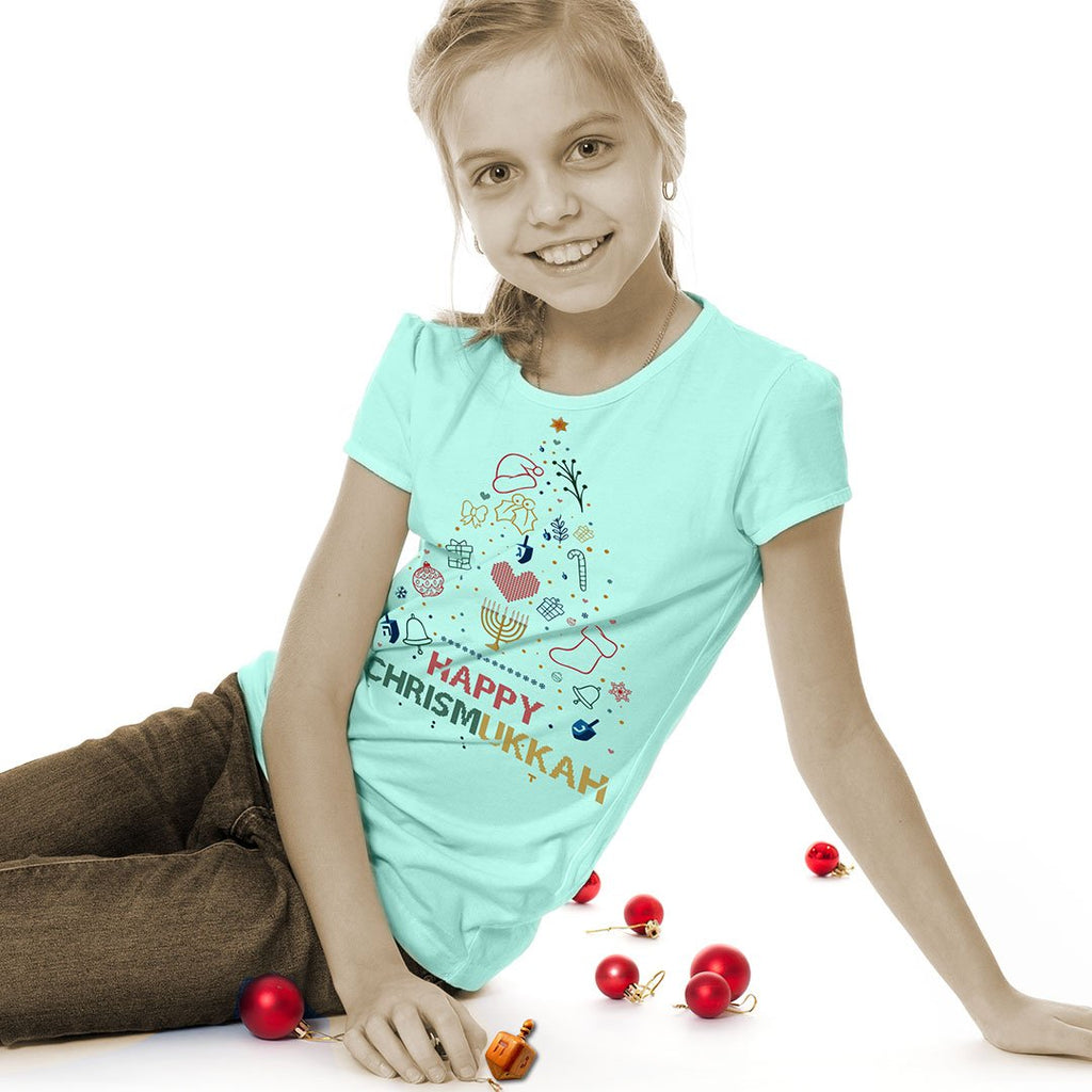 Happy Chirsmukkah - Kids Holiday T Shirt-WearBU.com