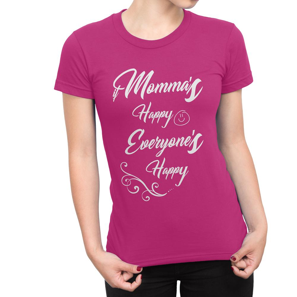 HAPPY MAMA - Women's Mother's T Shirt-WearBU.com