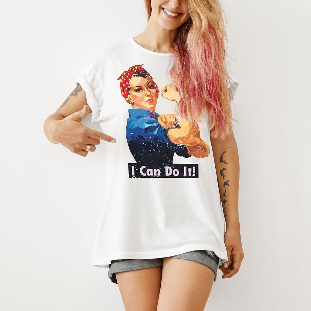 I Can Do It - Women's Awareness T Shirt-WearBU.com