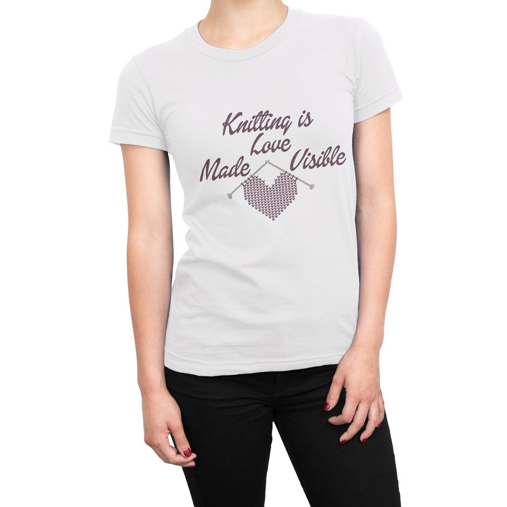 Knitting Is Love Made Visible - Women's Knitting T Shirt-WearBU.com