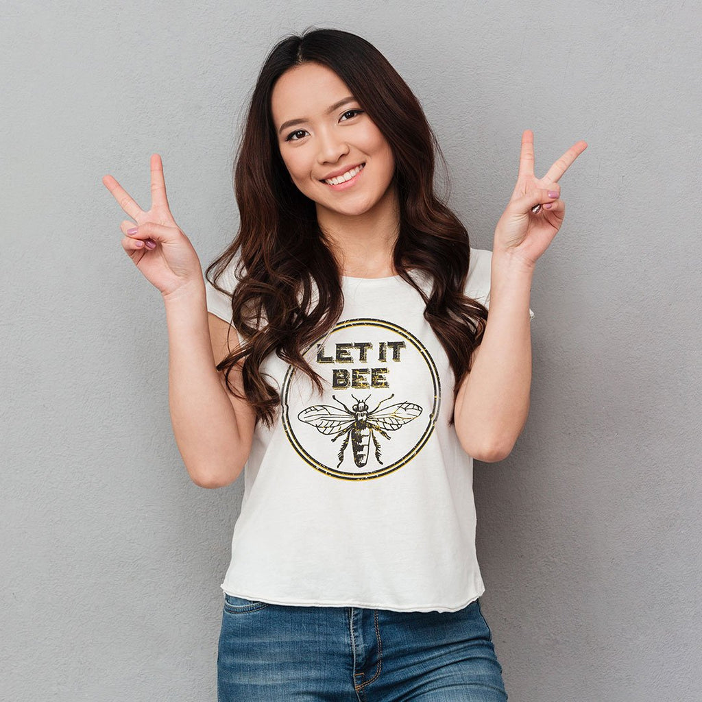 Let It Bee - Women's Inspirational T Shirt-WearBU.com