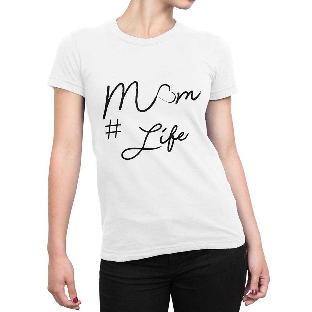 MOM LIFE - Women's Mother day T Shirt-WearBU.com