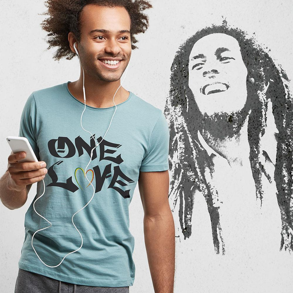 ONE LOVE - Unisex Inspirational T Shirt-WearBU.com