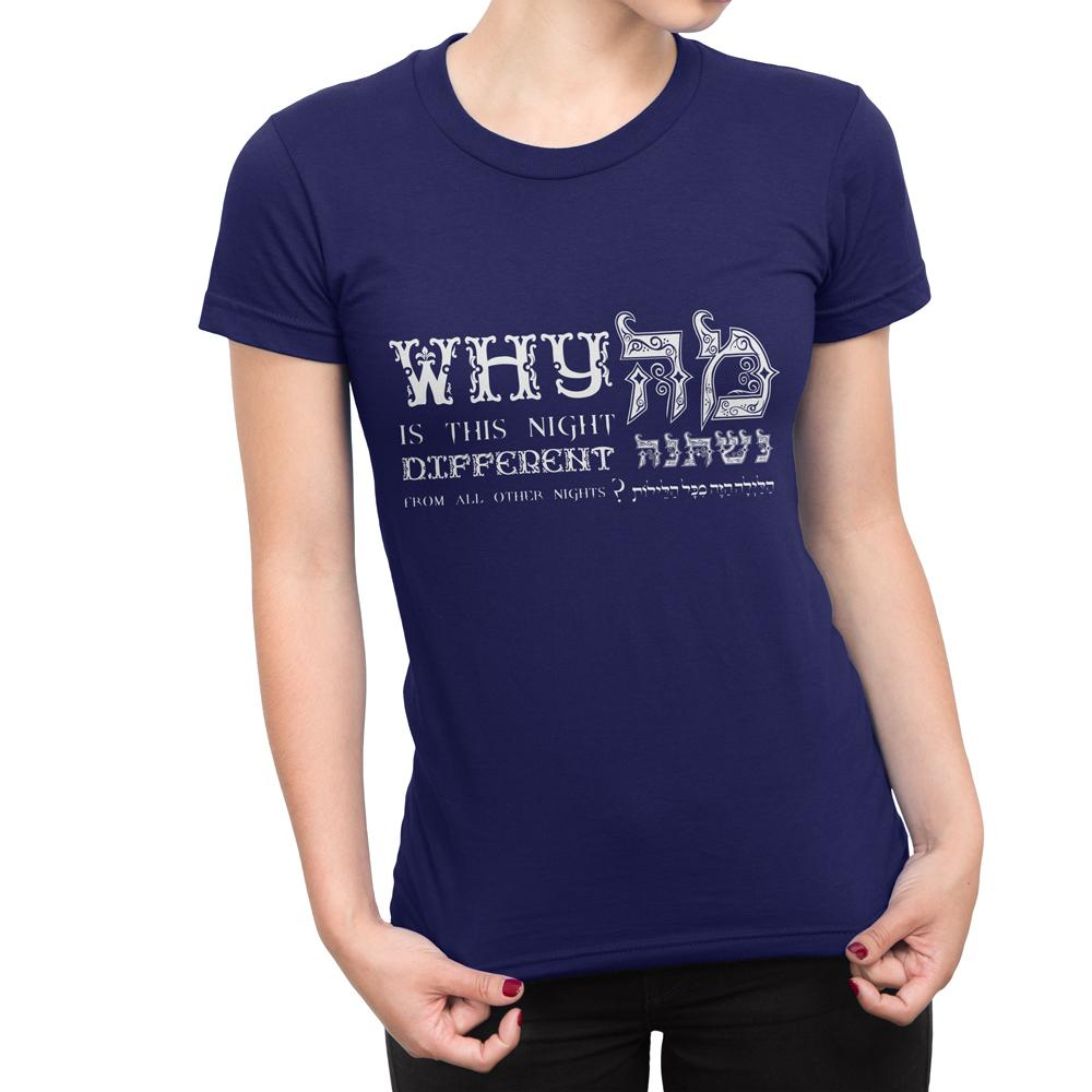 PASSOVER NIGHT - Women's Jewish Holiday T Shirt-WearBU.com