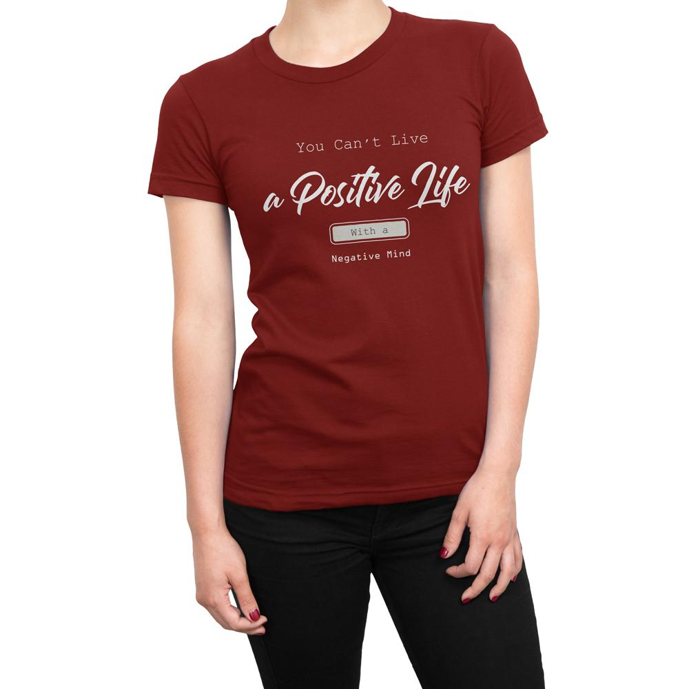 POSITIVE LIFE - Women's Inspirational T Shirt-WearBU.com