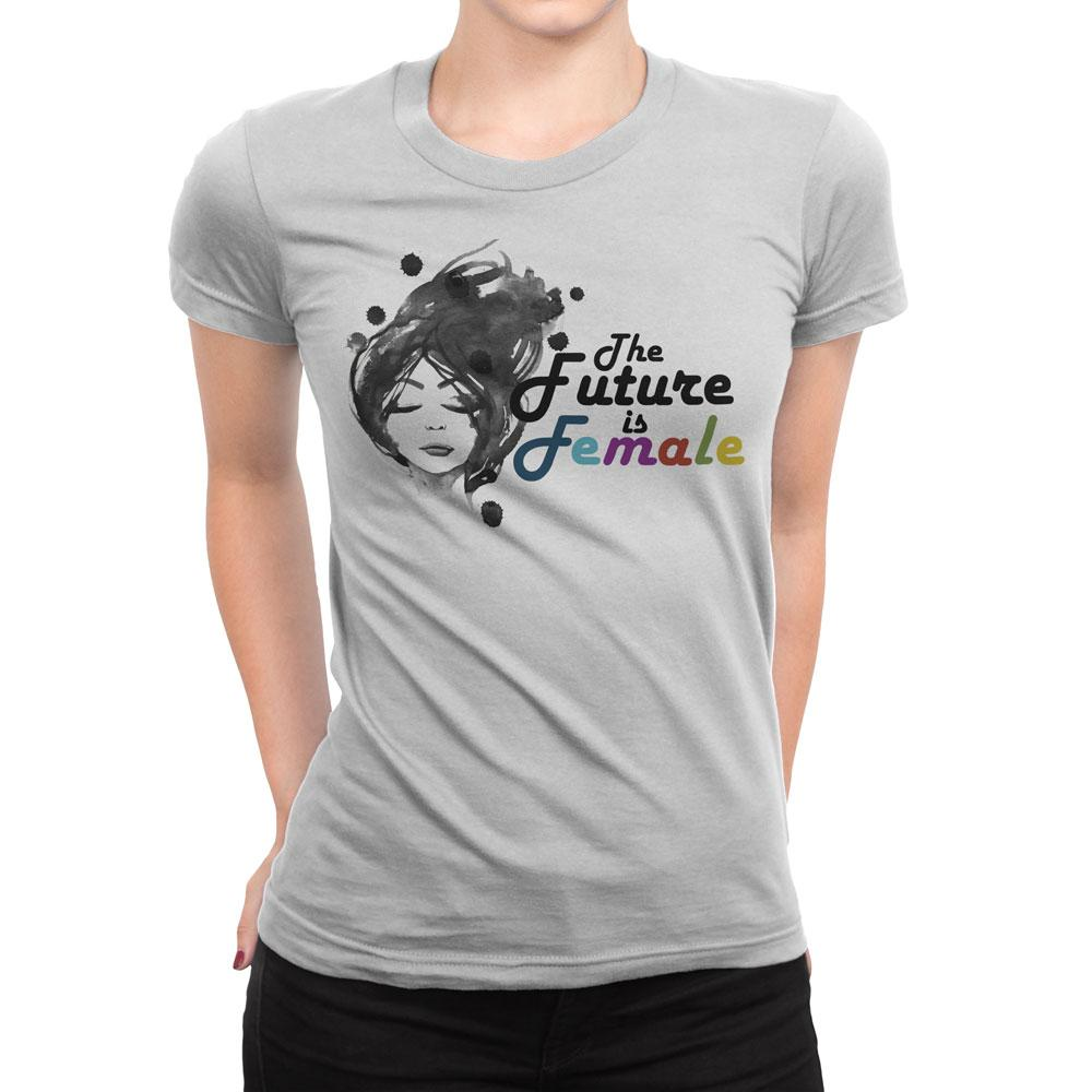 The Future is Female - Women's Inspirational T Shirt-WearBU.com