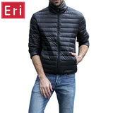 Men Solid Parkas Cotton-Padded Down Jacket