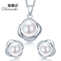 Dainashi Sterling Silver Pearl Jewelry Set