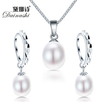 Dainashi Pearl Sterling Silver Jewelry Set Tajori World