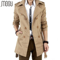 Men's Trench Coats Windbreaker Jacket