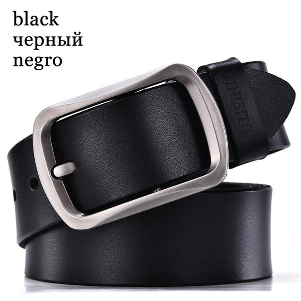 DINISITON Men Cowhide Genuine Leather Belts