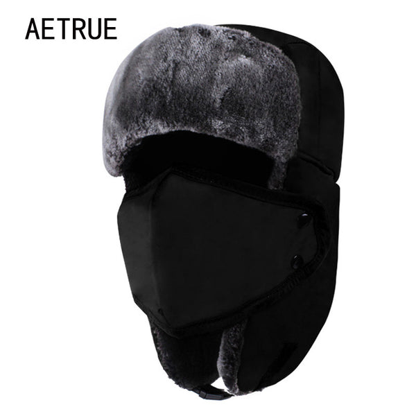 AETRUE Men/Women Warm Fur Bomber Hats