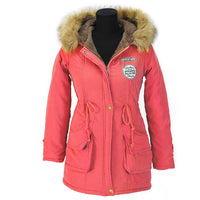 Women Outerwear Casual Long Parka Jacket