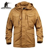 Men's Tactical Trench Coats Jacket Hoodie