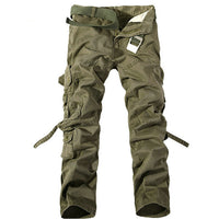 MISNIKI Multi-Pocket Solid Mens Cargo Pants