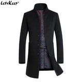 Men Casual Slim Fit Warm Trench Coat Jackets