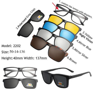 22bf7c08dac 5 in 1 Magnetic Lens Swappable Sunglasses