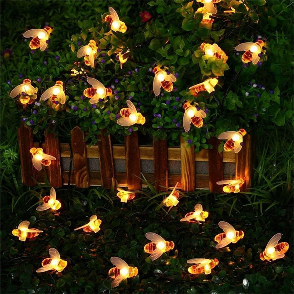Honeybee Solar Powered LED String Lights | Velvet Hollow