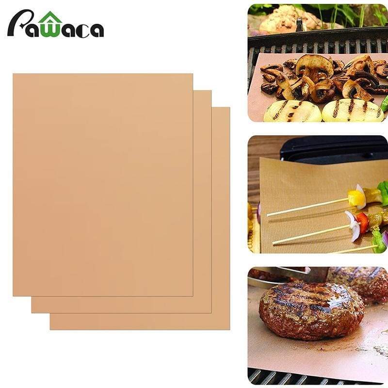 COPPER GRILL AND BAKE MAT - 3pcs