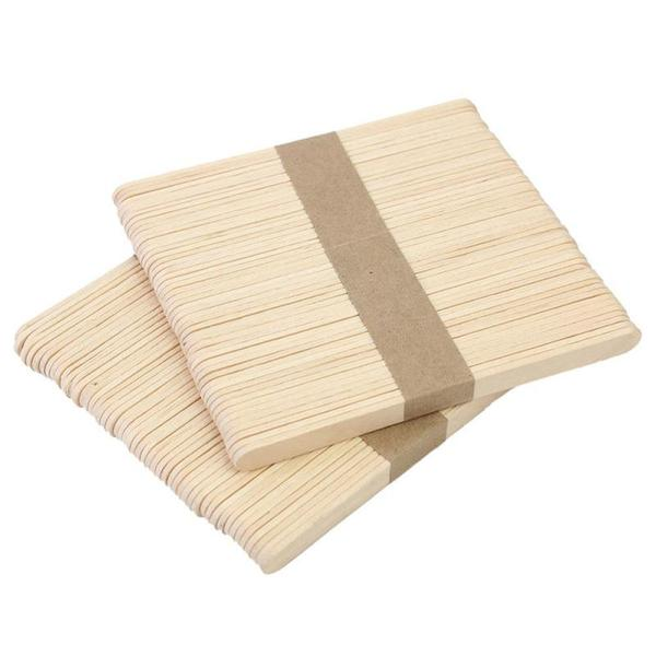 50 Pcs Wooden Wax Spatula | Globe Moon