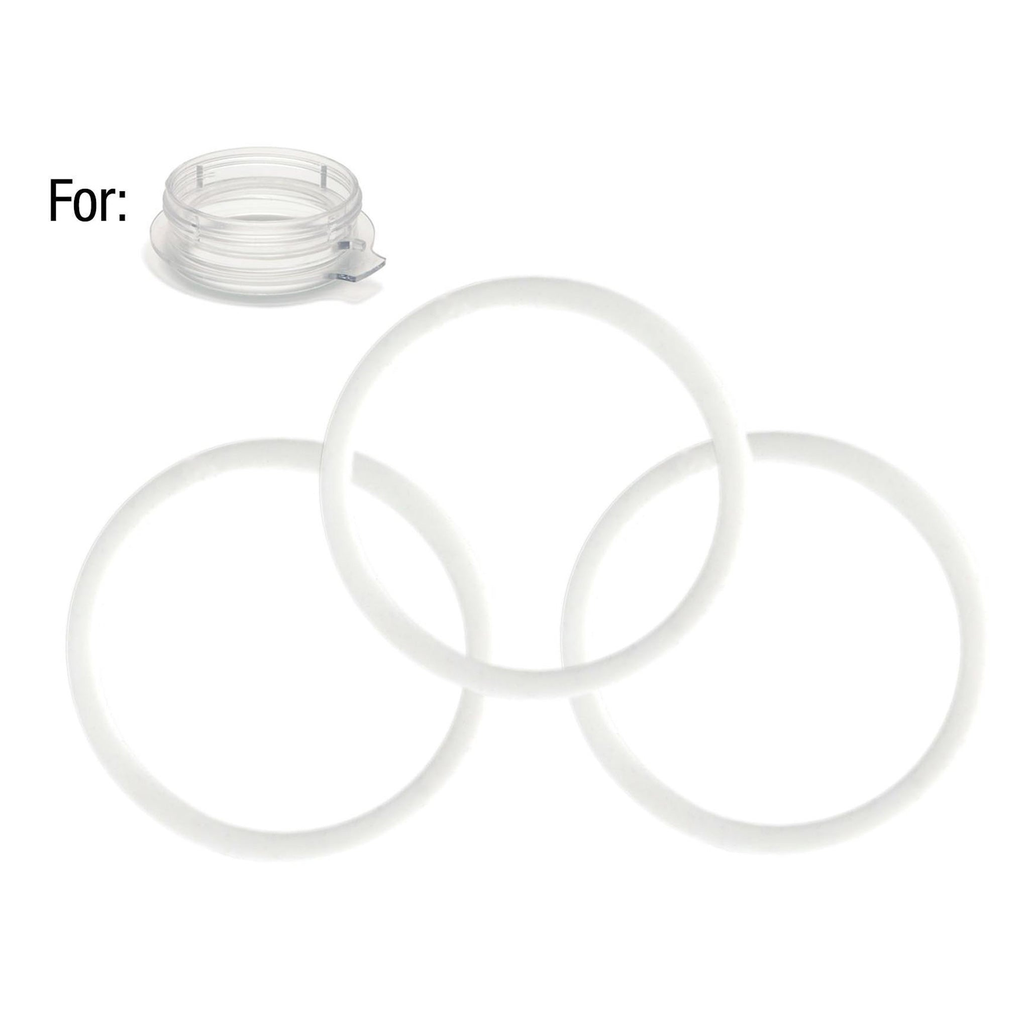 3 Mason Jar Adapter O-Rings for the Mason Jar Adapter of the Personal Blender®.