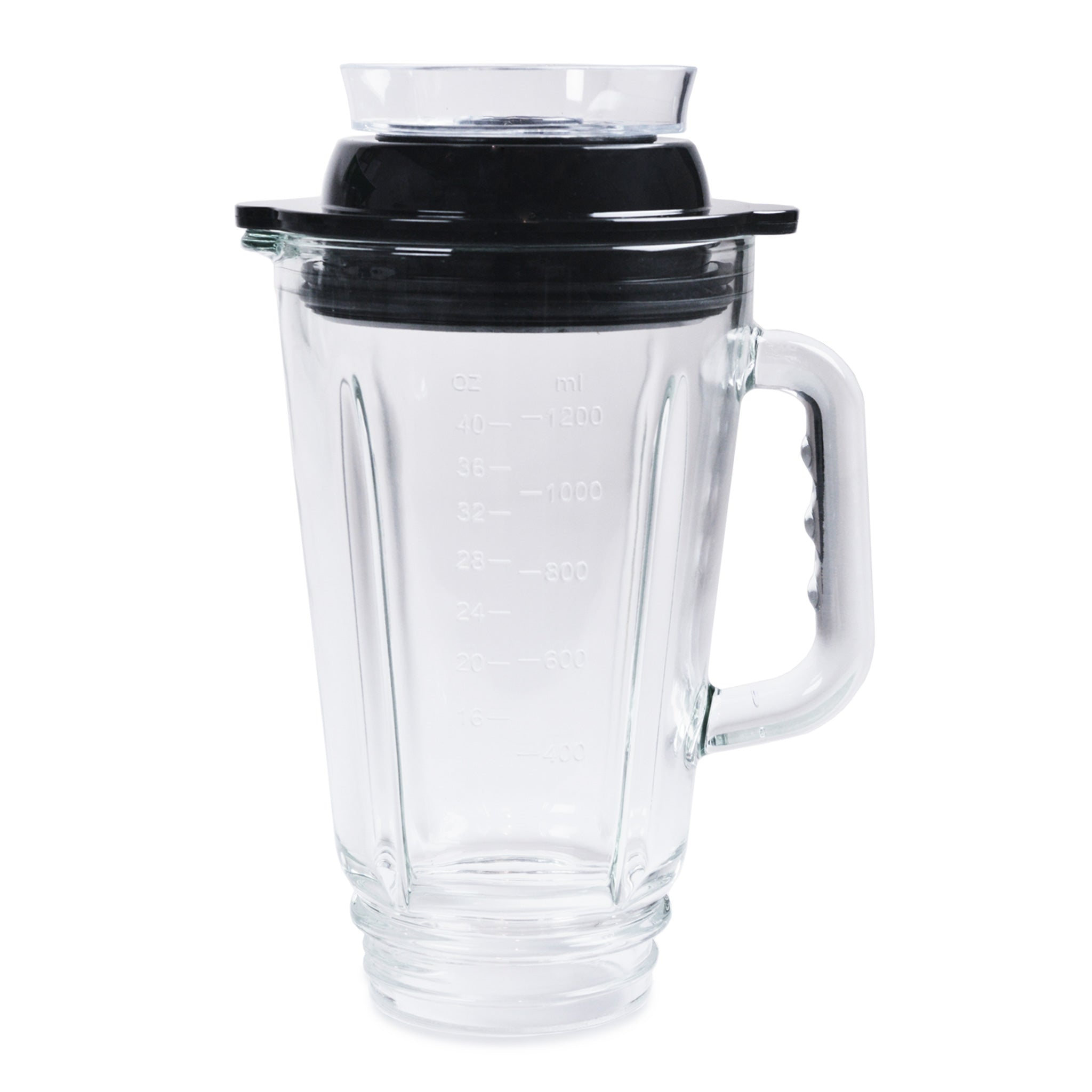 This is the 42 oz glass blending container with vacuum lid for the Glass Personal Blender®. You can use the Tribest® Vacuum Pump (TVP-1050) in conjunction with this to turn your Glass Personal Blender® into a vacuum blender.