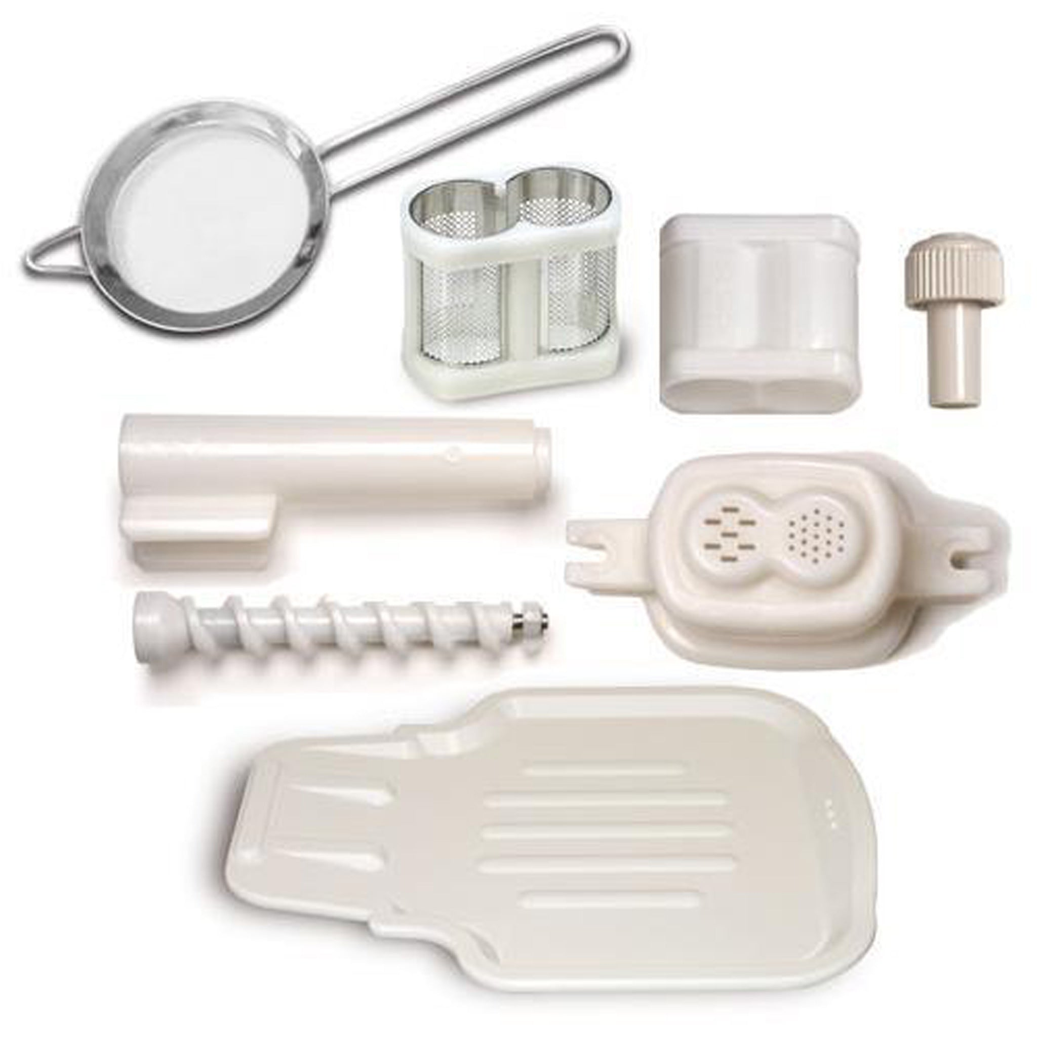 Upgrade Kit for Greenstar® Original (GS-1000) includes:  Coarse Screen Drip Tray Strainer Breadstick Maker Set Pasta Maker Set