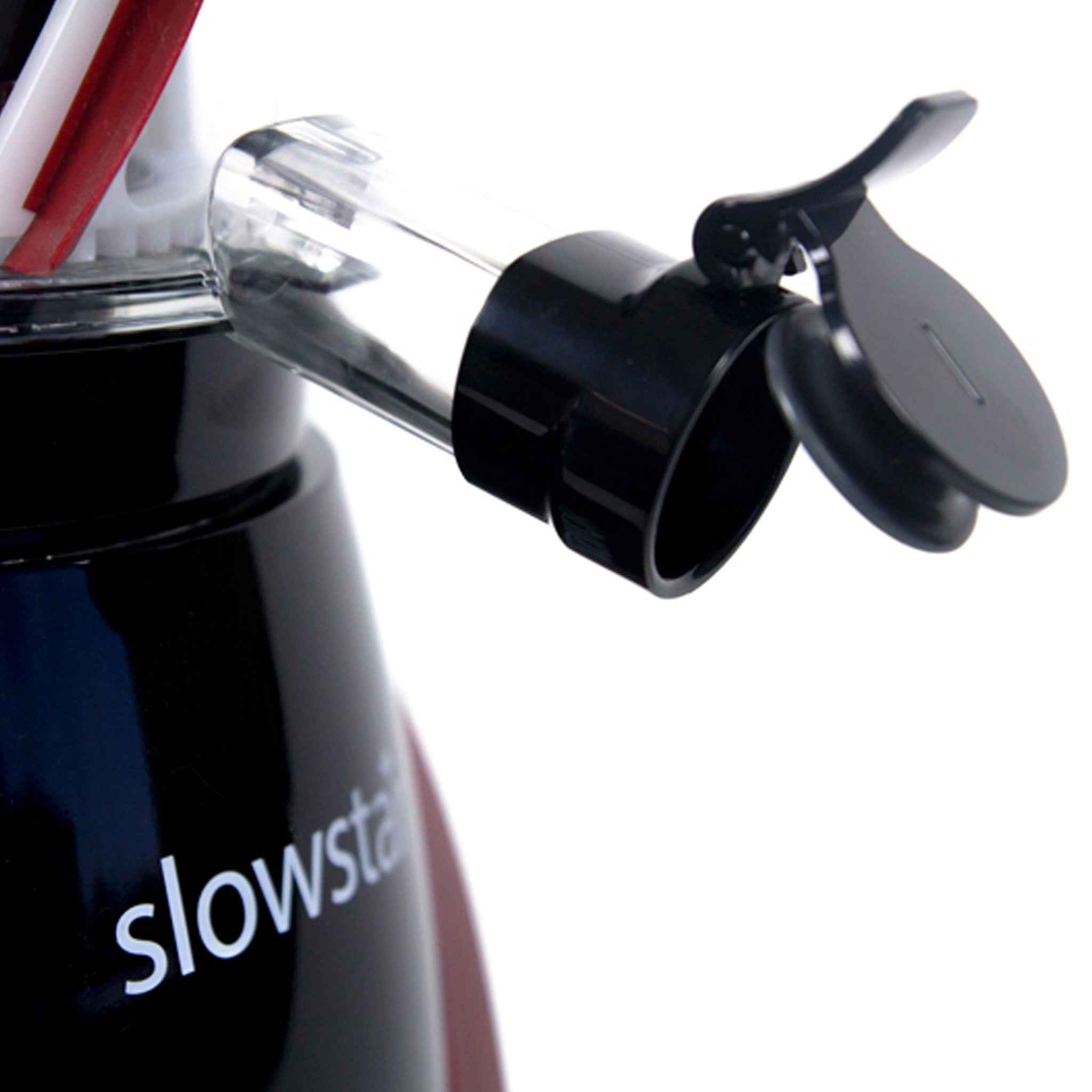 Slowstar® Vertical Slow Juicer & Mincer in Red SW-2000-B - Juice Cap - Tribest