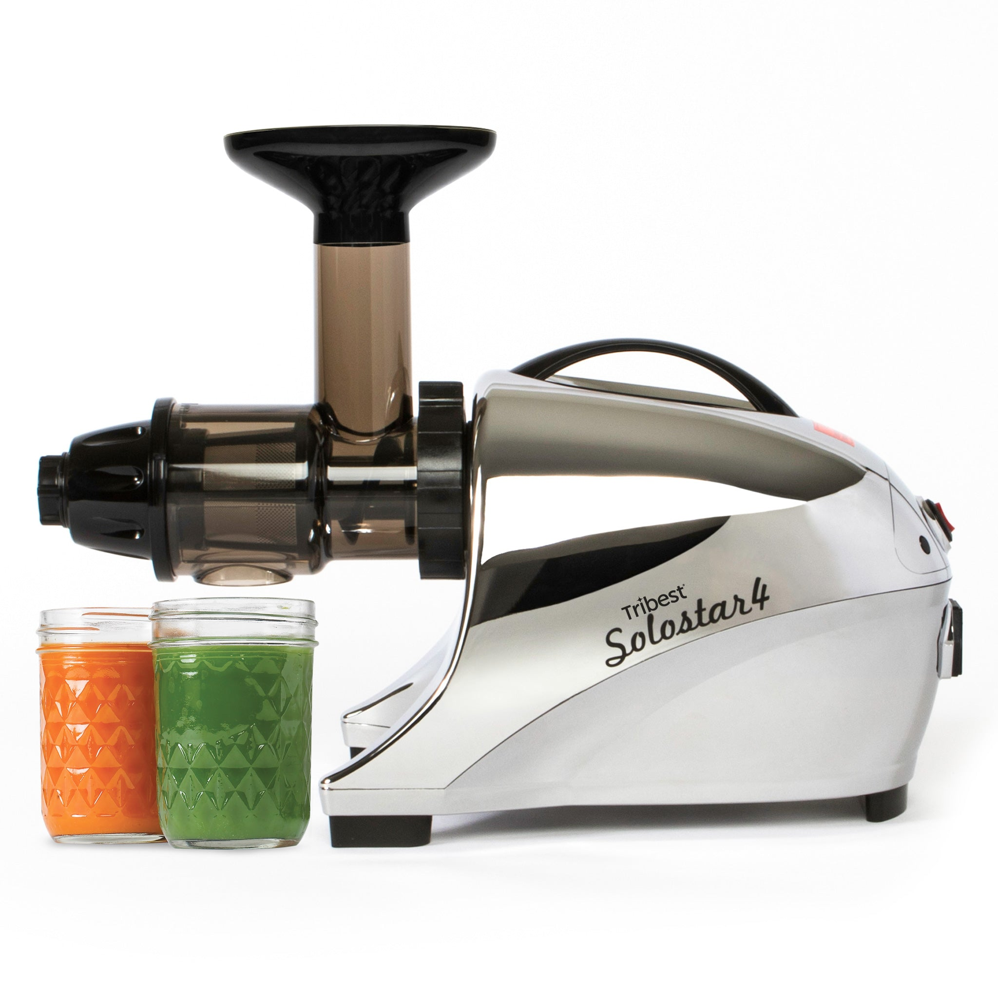 Solostar® 4 Horizontal Slow Masticating Juicer in Chome SS4-4250-B - Tribest