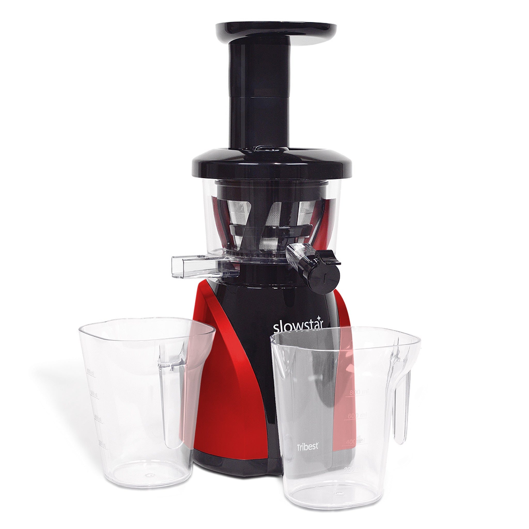 Slowstar® Vertical Slow Juicer & Mincer in Red SW-2000-B - Tribest