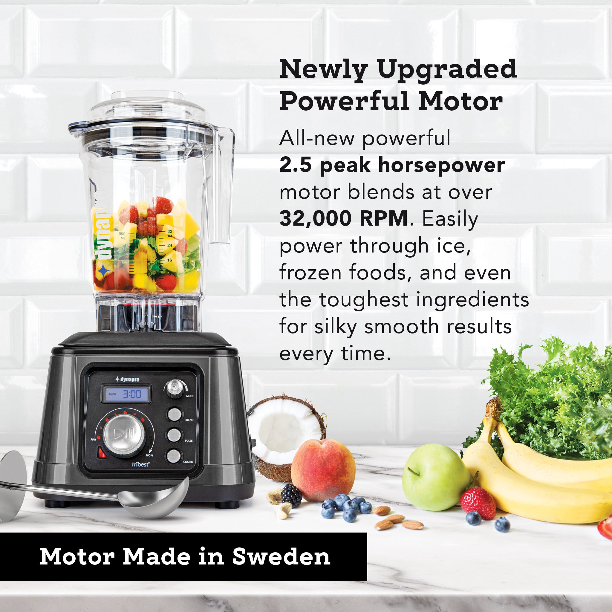 Dynapro® Commercial High-Speed Blender in Gray - Motor made in Sweden