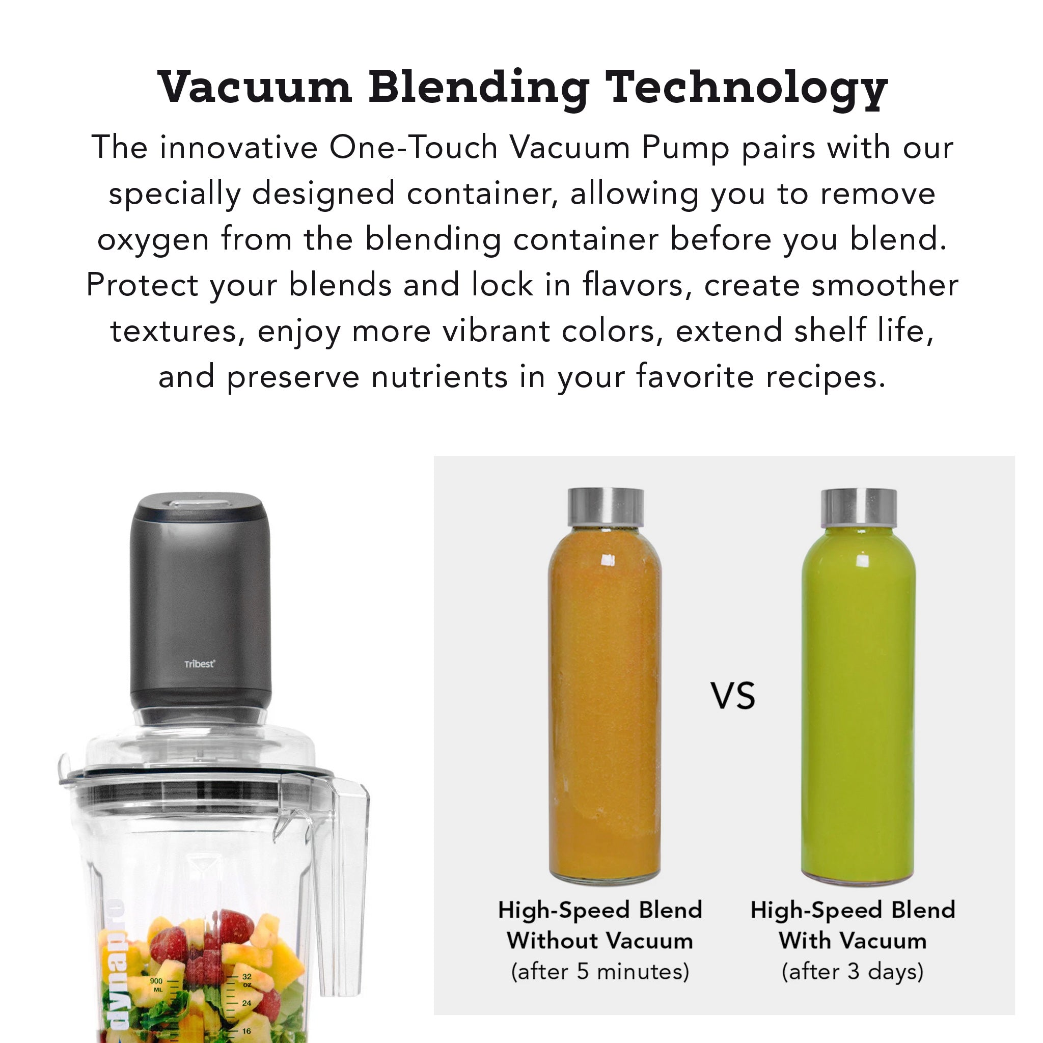 Dynapro® Commercial High-Speed Vacuum Blender in Gray - Vacuum Blending Technology