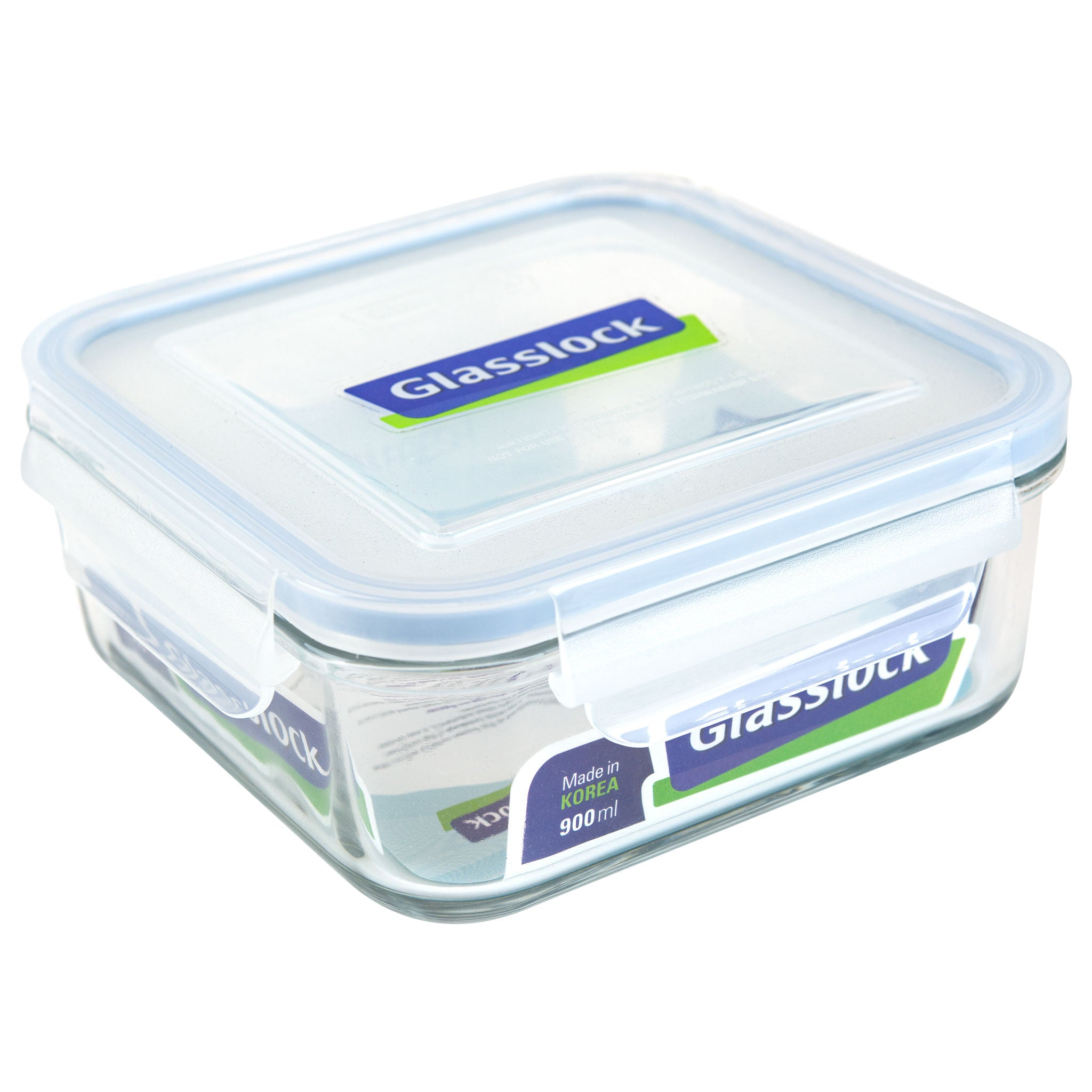 Glasslock Airtight Square Glass Storage Container (30 oz)