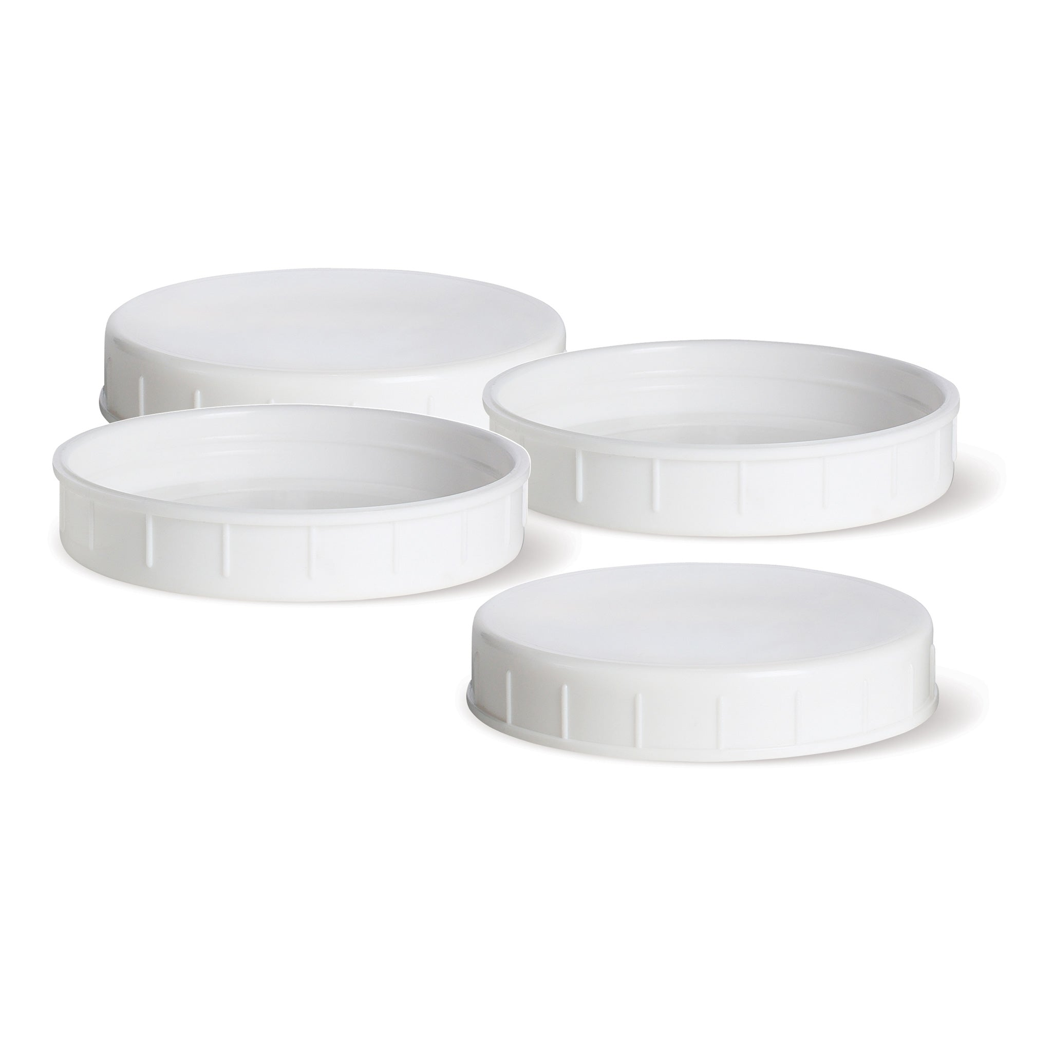 Regular Mouth Mason Jar Plastic Lids, 4-Pack