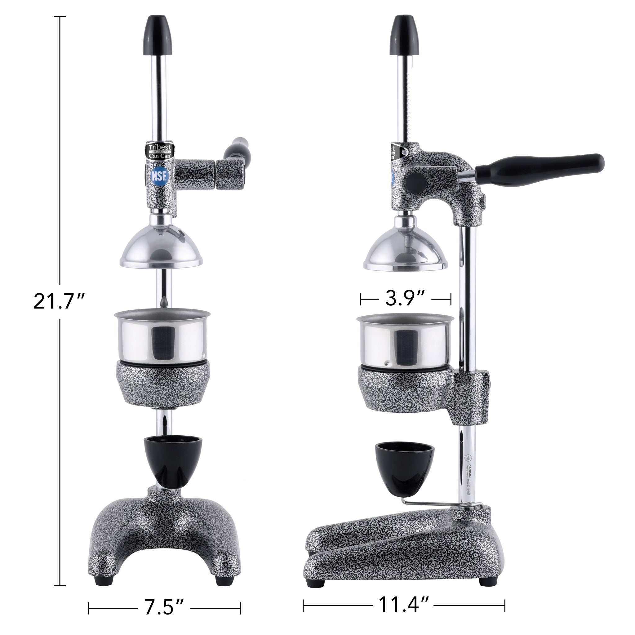 "Tribest Professional Cancan Manual Juice Press MJP-100 21.7"" x 7.5"" x 11.4"""