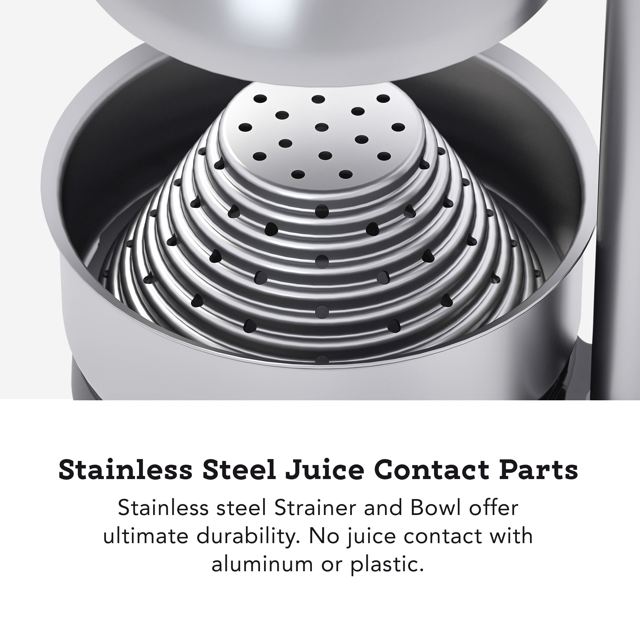 Tribest Professional Cancan Manual Juice Press MJP-100 Stainless Steel Juice Contact Parts