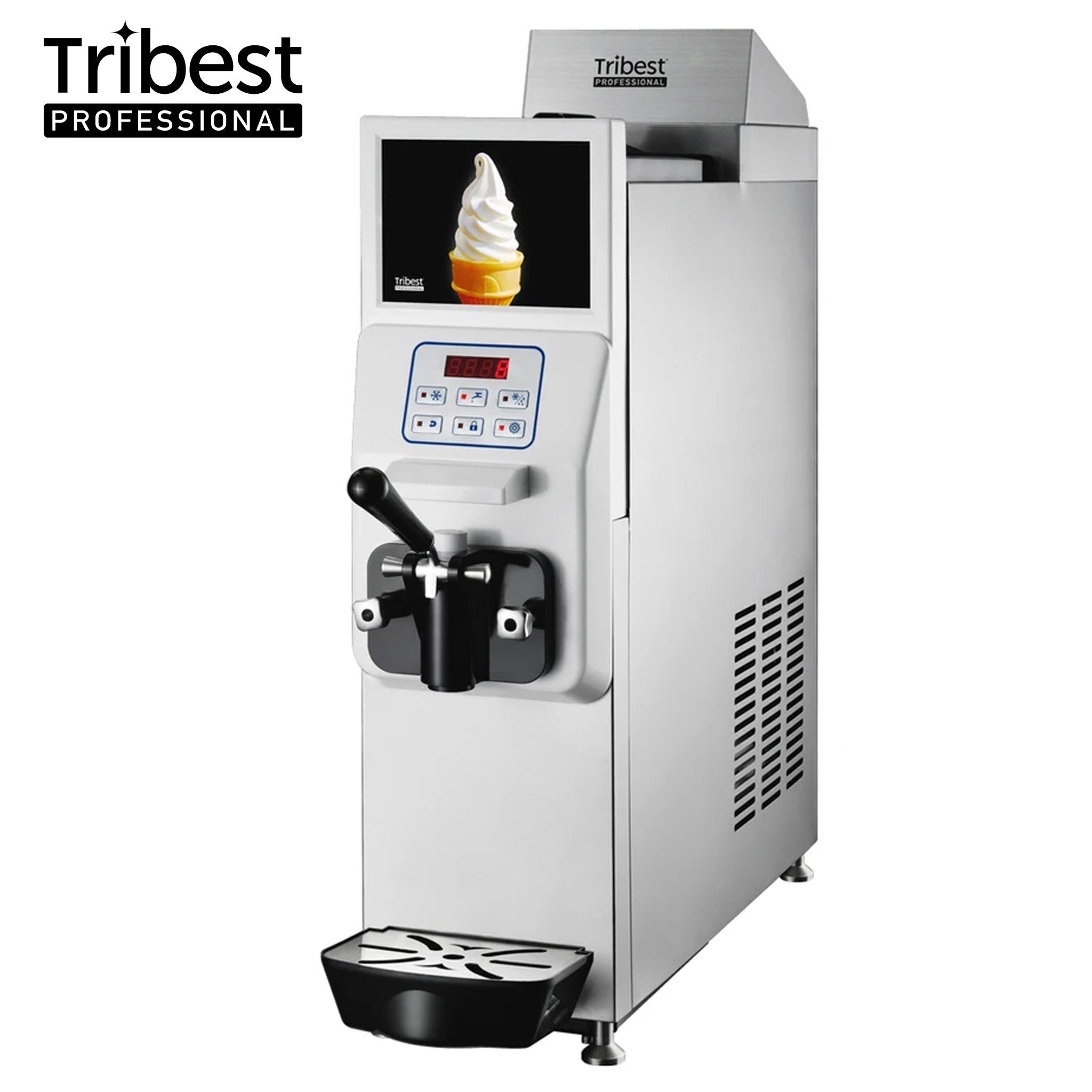 Tribest Professional Mini Soft Compact Single Soft-Serve Machine with LCD Screen