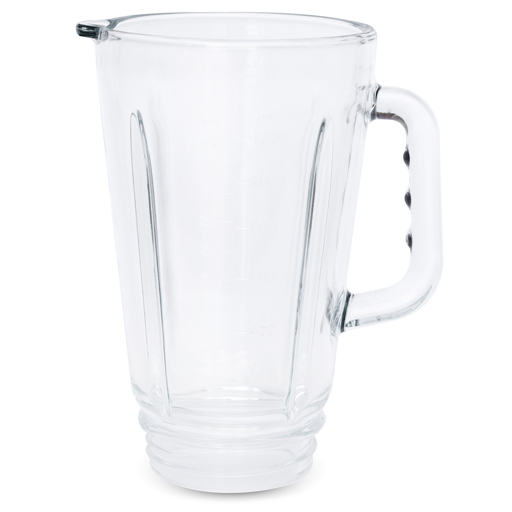 This is the 42 oz glass blending container without the vacuum lid for the Glass Personal Blender®.
