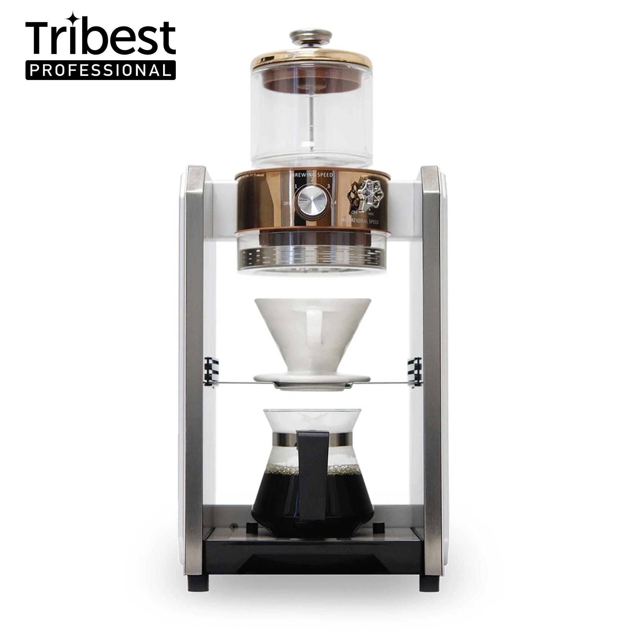Tribest Shine Kitchen Co.® Autopour Commercial Automatic Pour Over Coffee Machine (Single)