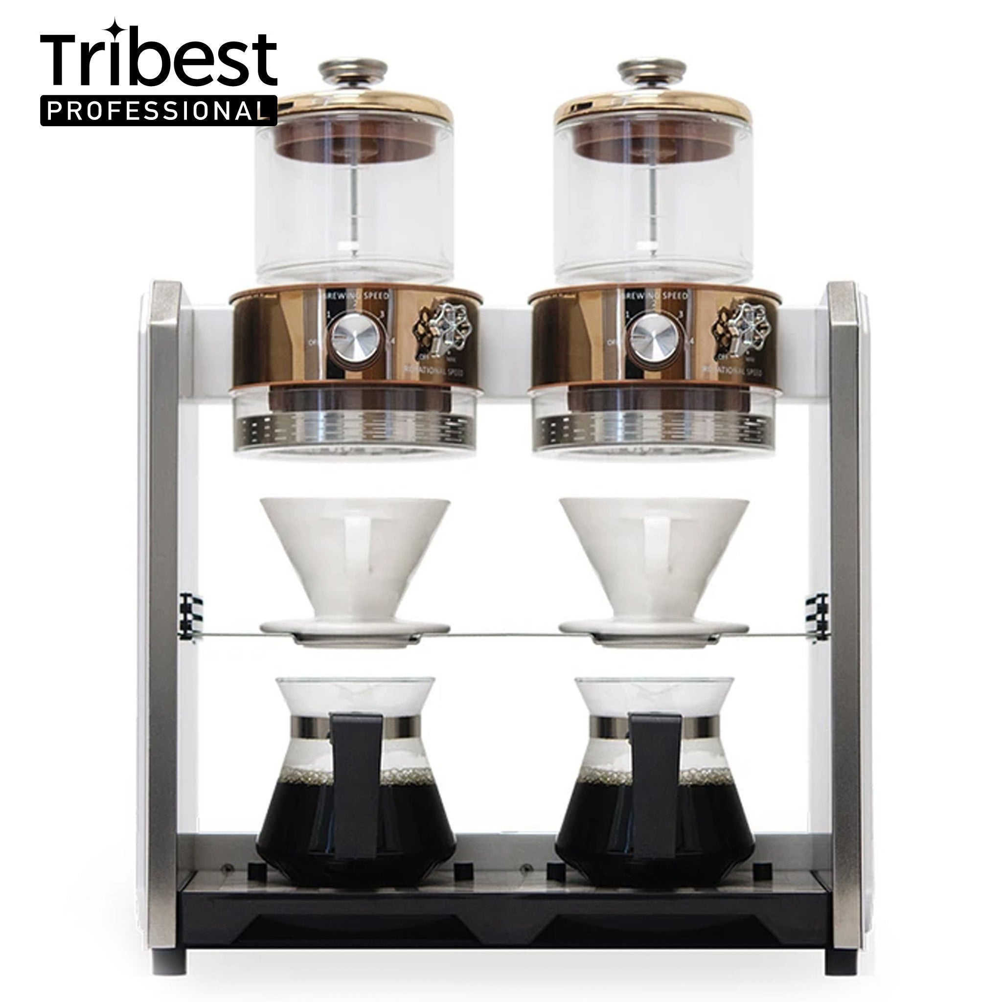 Tribest Shine Kitchen Co.® Autopour Commercial Automatic Pour Over Coffee Machine (Double)