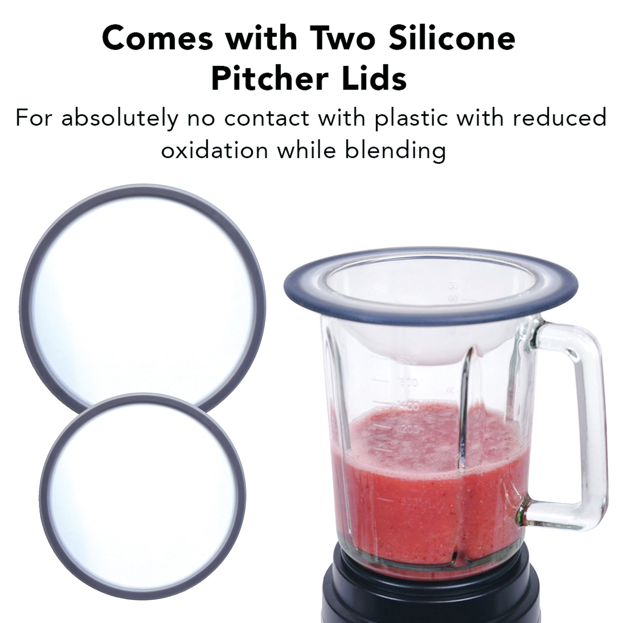 Dynablend Clean High-Power Home Blender DB-950-A - 2 Silicone Suction Lids - Tribest