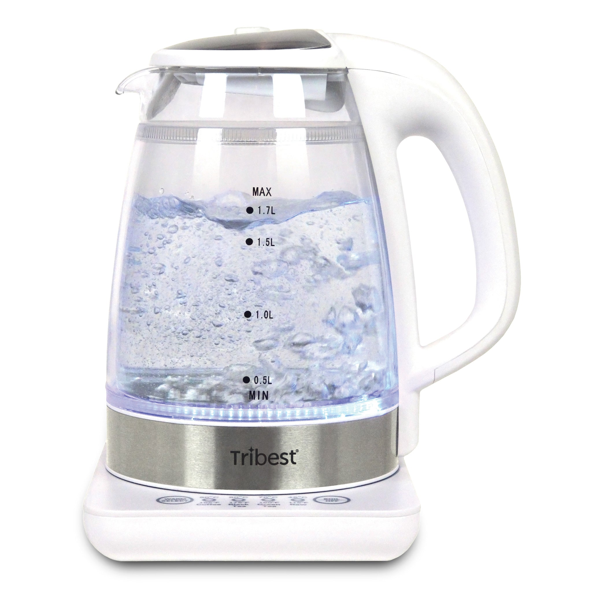 Raw Tea Kettle® Glass Electric Water Kettle GKD-450-B -  Water Boiling - Tribest