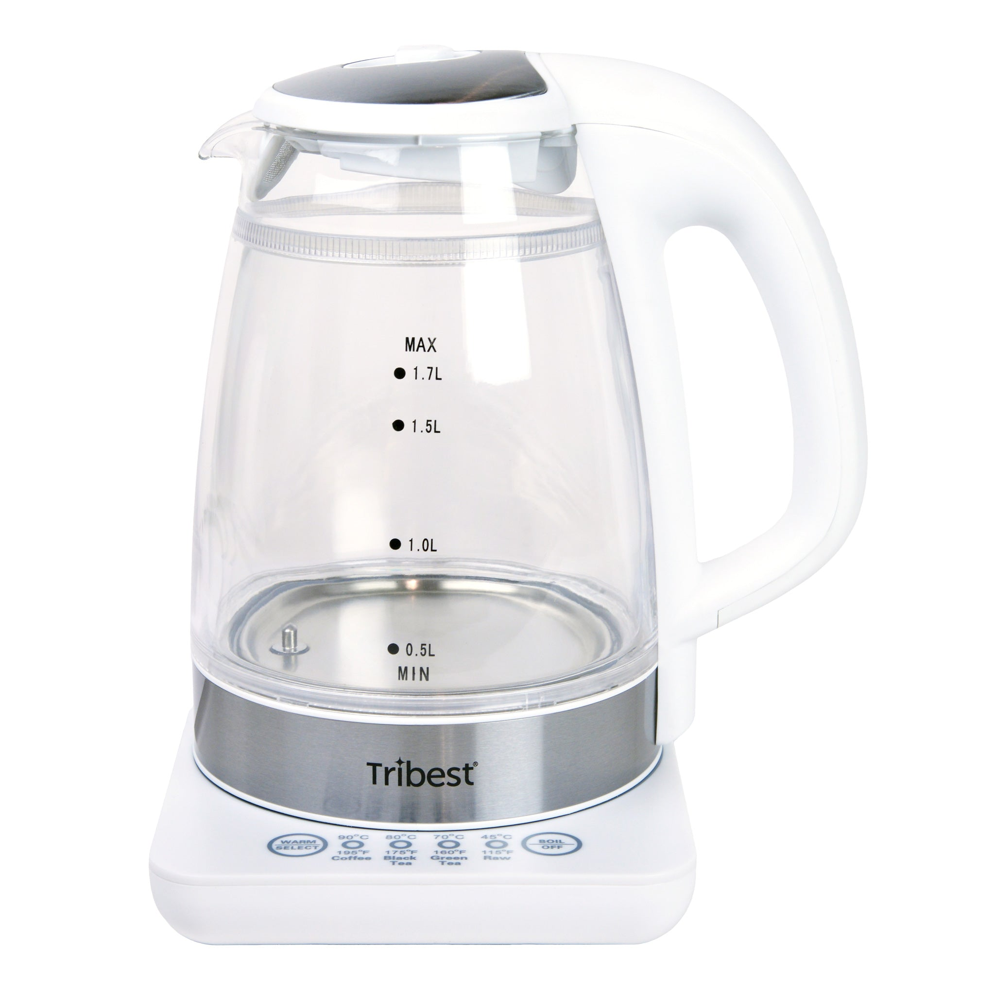 Raw Tea Kettle® Glass Electric Water Kettle GKD-450-B - Empty - Tribest