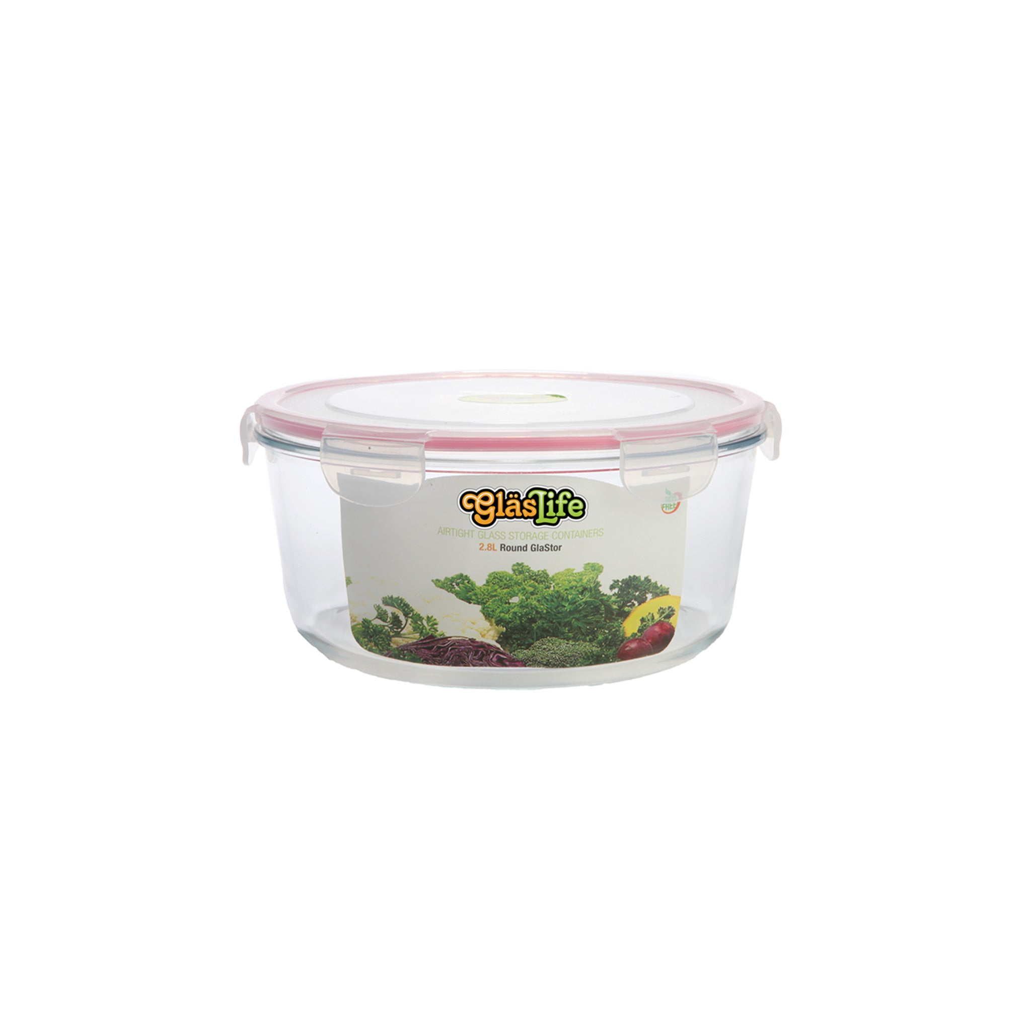 GlasLife® Air-Tight Glass Storage Container - Round GLC045 Small 15 oz / 0.45 L